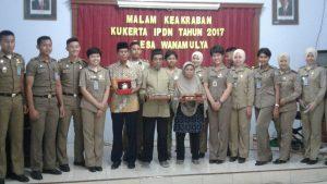 Wanamulya menerima Kukerta  Wasana Praja IPDN Tahun 2017